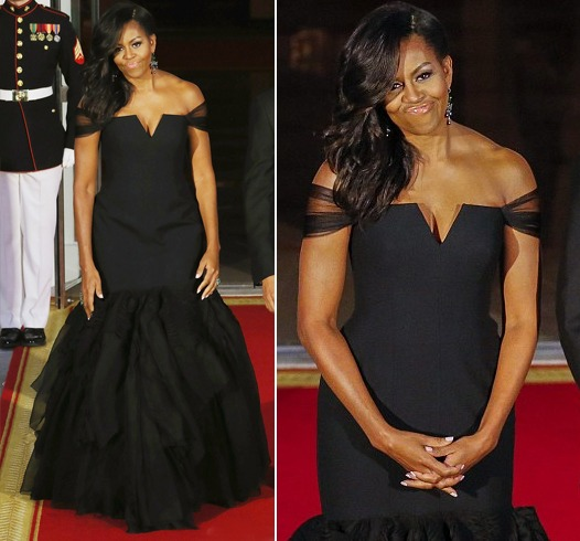 Michelle Obamas Vera Wang Dress