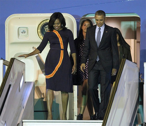 Michelle Obama Outfit By Narciso Rodriguez