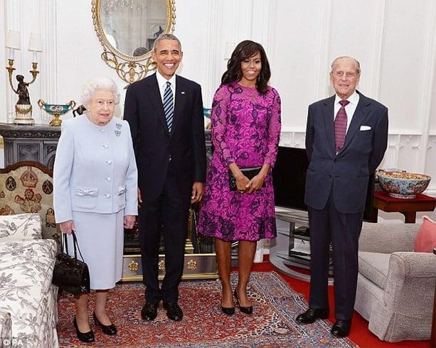 Obama Oscar De La Renta Dress