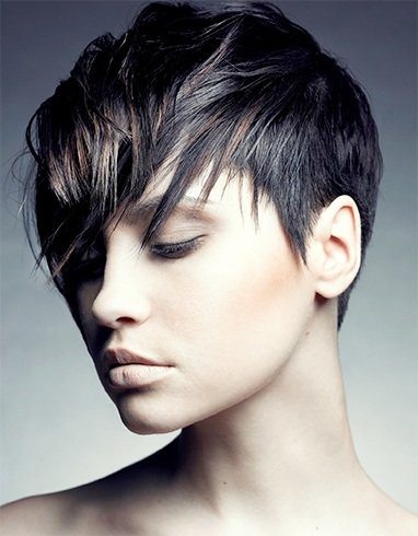 Short Asymmetrical Shaggy Haircut