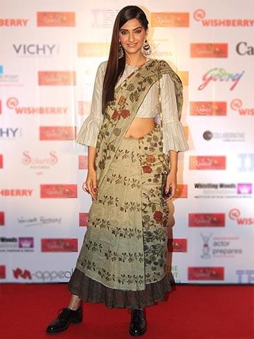 Sonam Kapoor Wearing Brogues