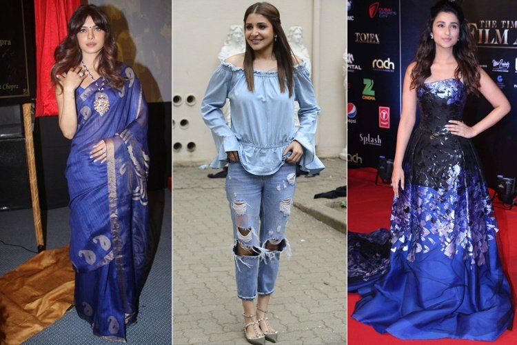 Bollywood Actresses In Blue