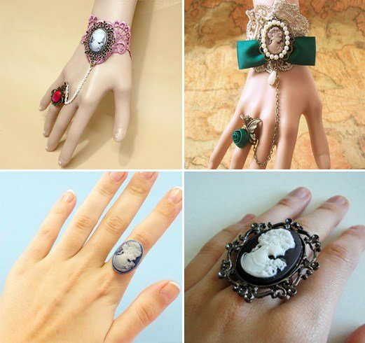 Cameo Rings And Bracelets