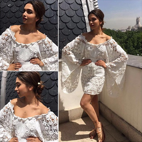 Deepika in crochet top