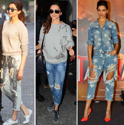 Deepika Padukone In Denims
