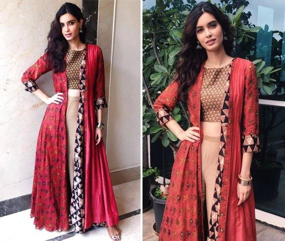 Diana Penty In Red And Brown