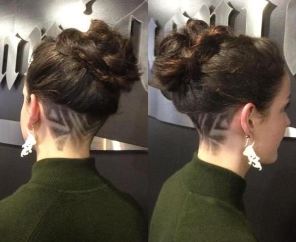 Hair Tattoo For Bun Hair