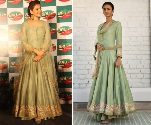 Kajal Aggarwal in Rimple and Harpreet Narula Anarkali