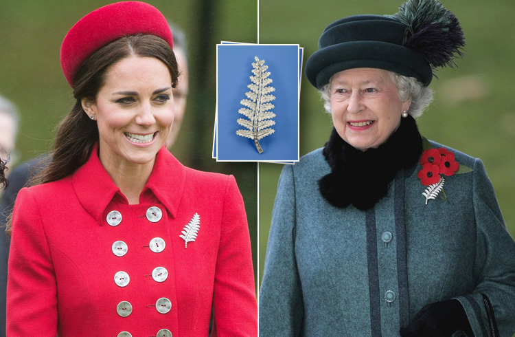 Kate Middleton New Zealand Fern Brooch