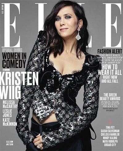 Kristen Wiig on Elle July 2016