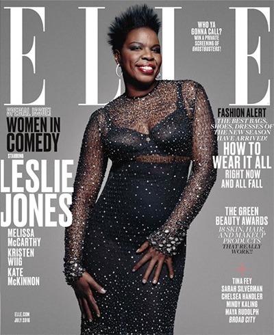 Leslie Jones on Elle July 2016