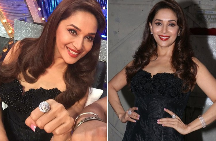 Madhuri in Andrew Gn gown