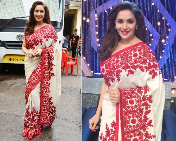 Madhuri Dixit In Manish Malhotra Saree