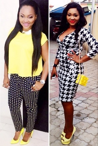 Mercy Aigbe Yellow Footwear