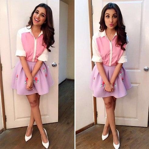 Parineeti Chopra In Pink And Lavender