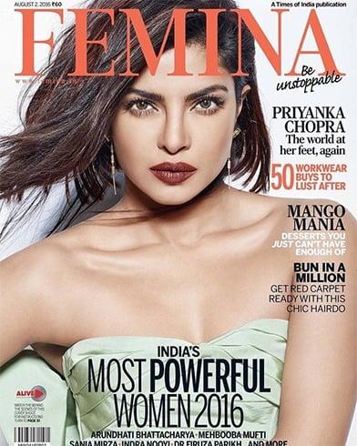 Priyanka Chopra On Femina India August 2016