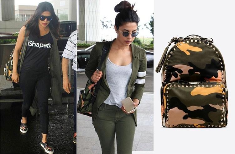 Priyanka Chopra Maison Valentino backpack