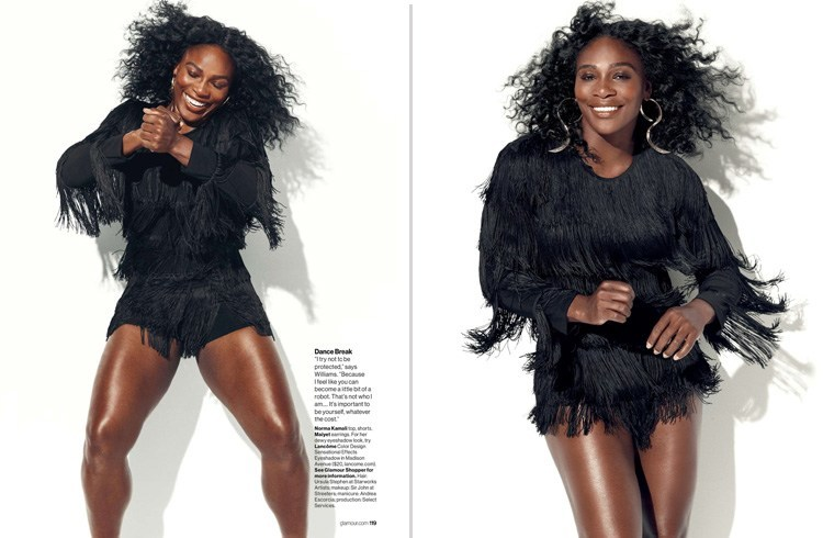 Serena Williams Glamour July 2016 Magazine Photoshoot