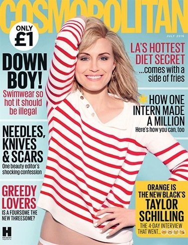 Taylor Schilling on Cosmopolitan July 2016 UK