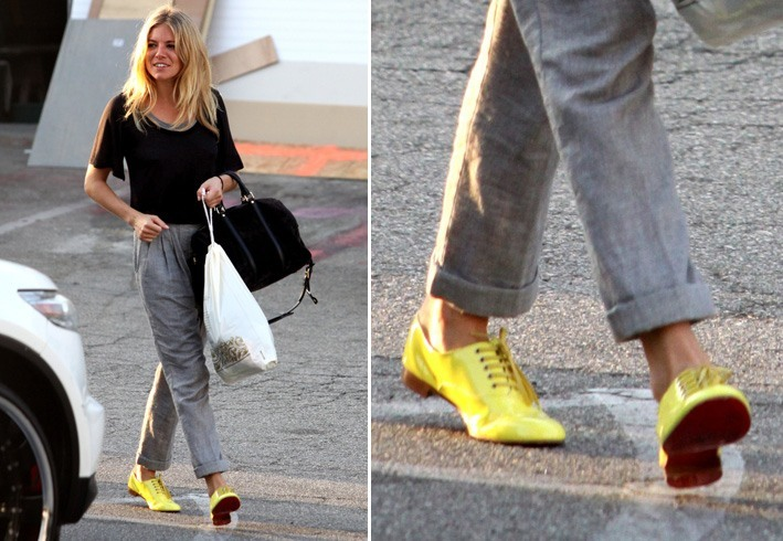 gorgeous outfits with yellow shoes