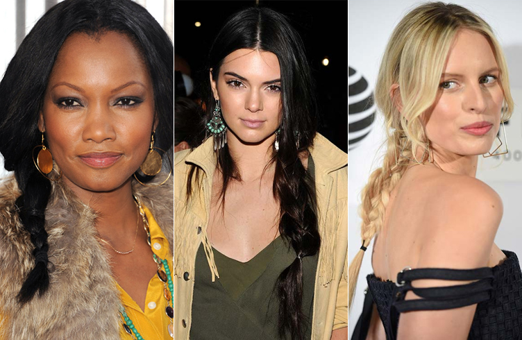 Celebrites Center Part Hairstyles