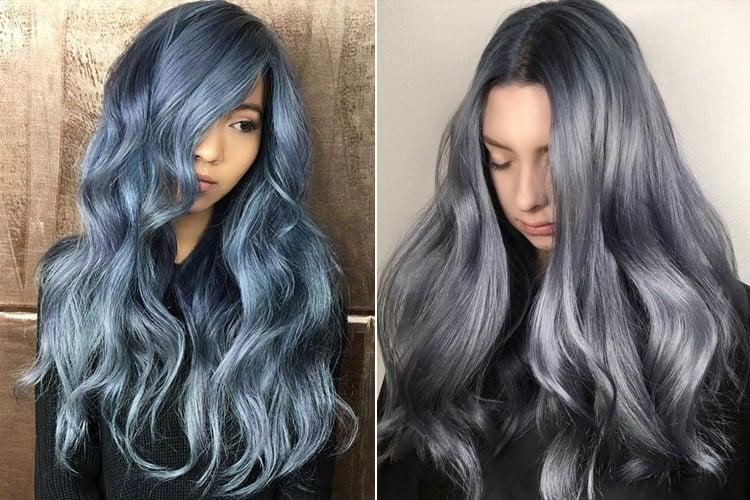 Denim Hair Color Trend