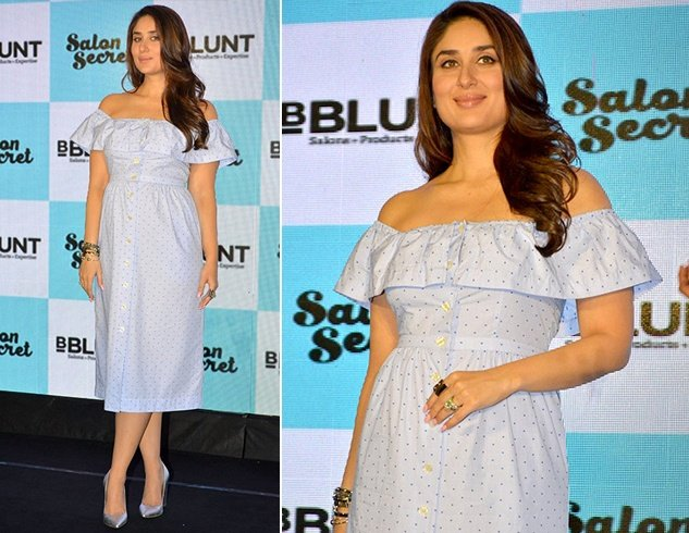 Kareena Kapoor Khan In An Off Shoulder Dress