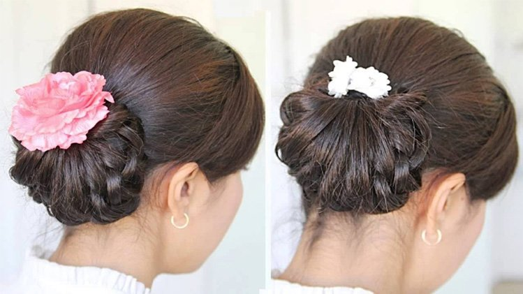 Knotted Semi-Bun Bridal Hairdo