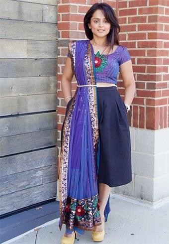 Pair Saree Blouse With Skirts