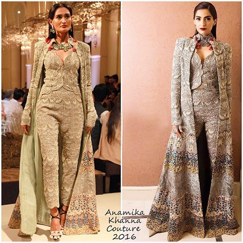 Sonam Kapoor In Anamika Khanna Couture