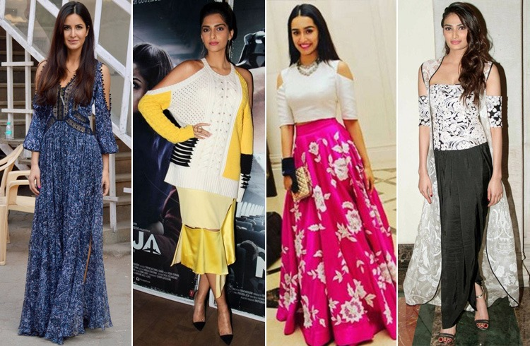 Bollywood Celebs in Cold Shoulder Dresses