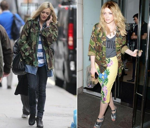 denim jacket fashion by celebrities