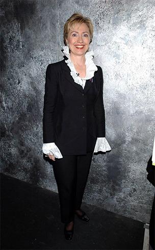 Hillary Clinton Black Pant Suit
