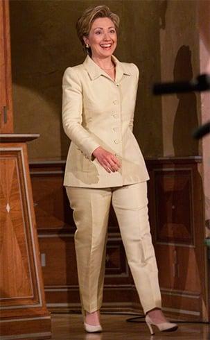Hillary Clinton in Cream