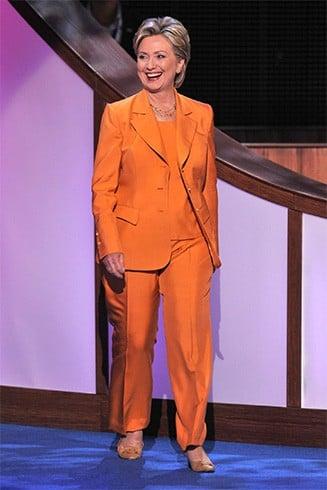 Hillary Clinton in Orange