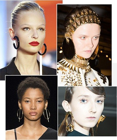 Hoop Earrings Runway Fashion