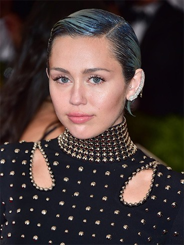 Miley Cyrus Glitter Hair Roots