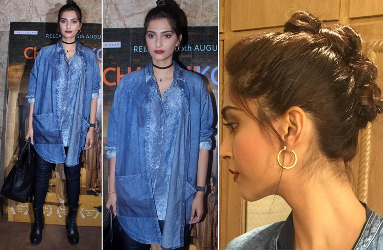 Sonam in Denim Jacket