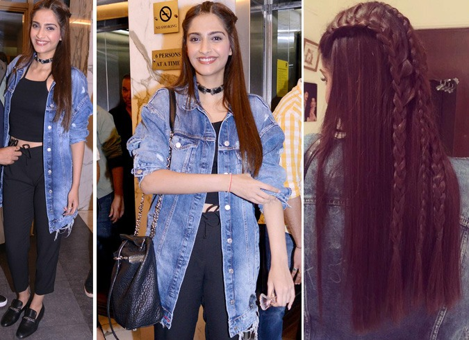 Sonam Kapoor in Denim Jacket