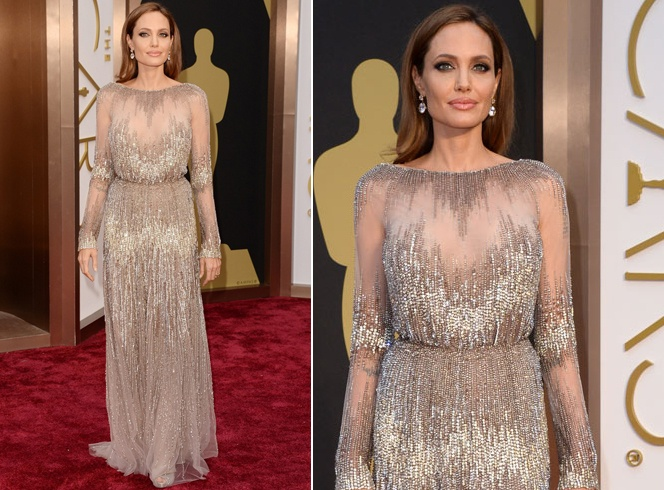 Angelina Joli At Oscars