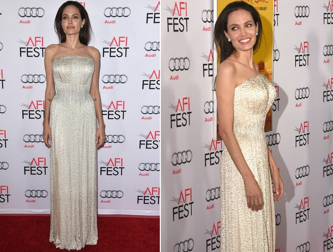 Angelina Jolie At premier of By the Sea
