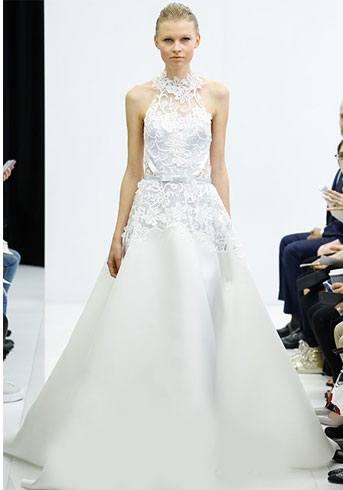 bridal white look