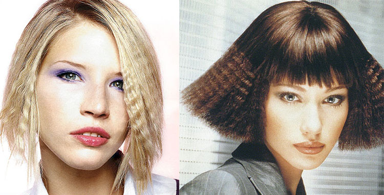 Crimped Short Hairstyles
