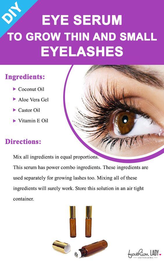 Diy Eye Serum To Grow Thin And Small Eyelashes