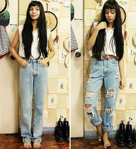 DIY ripped jeans - Tattered Skinnies Alert! Easy Way How To Make Ripped Jeans
