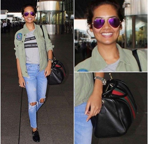 Esha Gupta Airport Fashion
