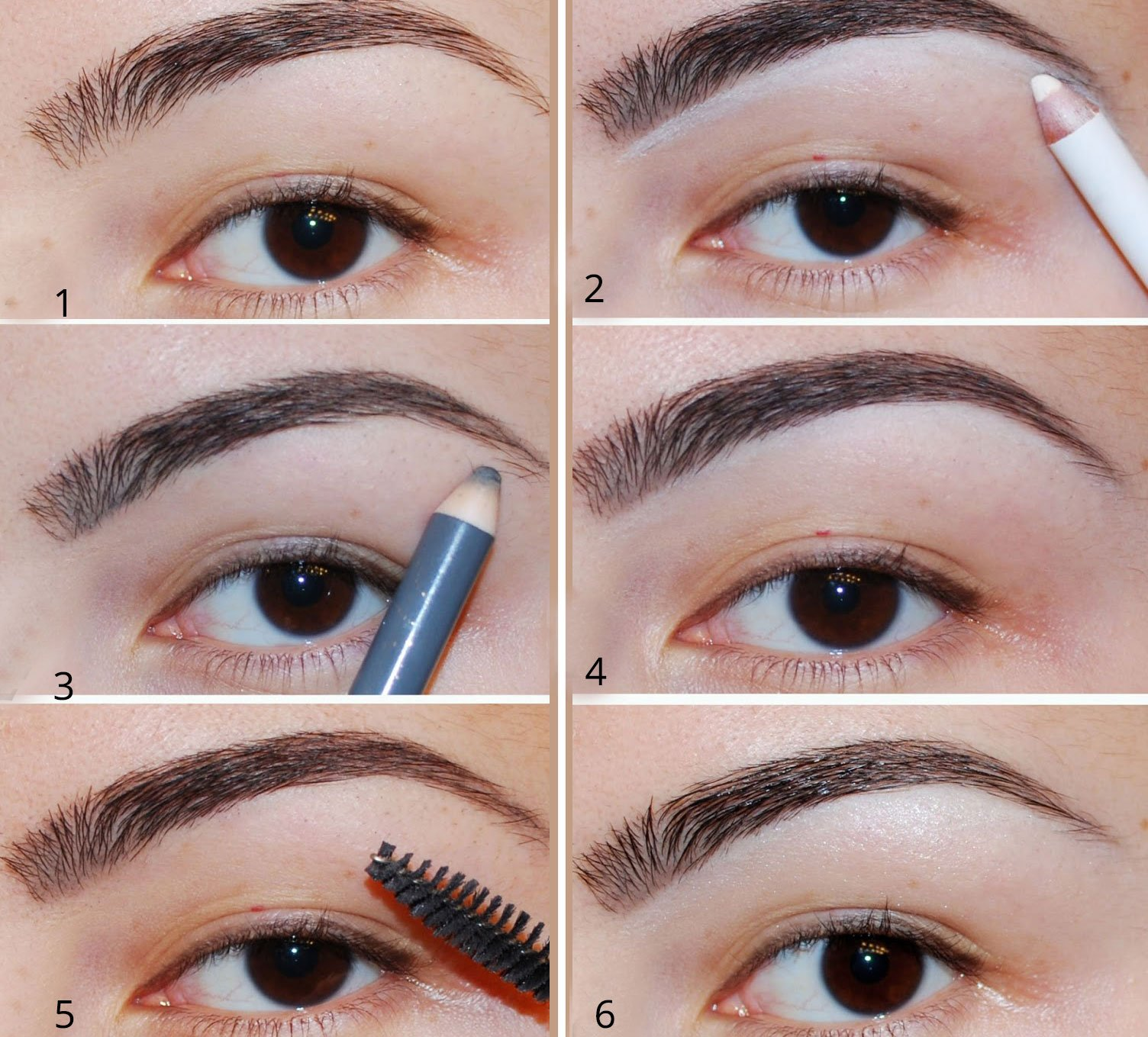 White Eye Pencil To highlight Your Brow