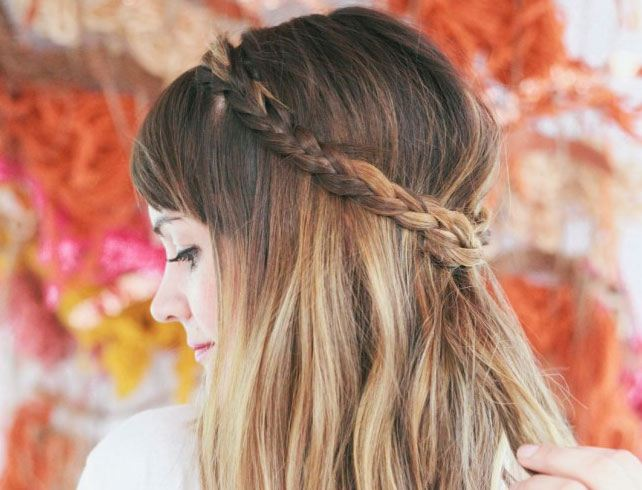 Half Up Messy Braid