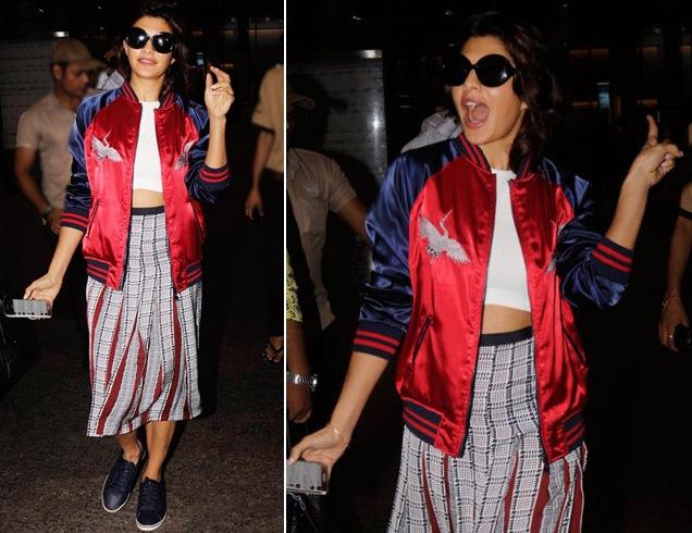 Jacqueline Fernandez Airport Fashion Styles