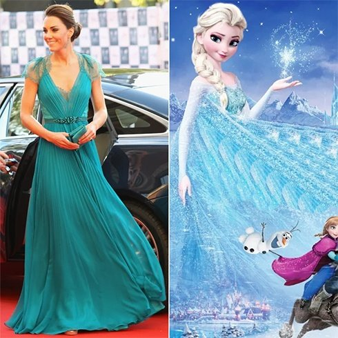 Kate Middleton Disney Princess Style